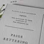 letterpress wedding invite