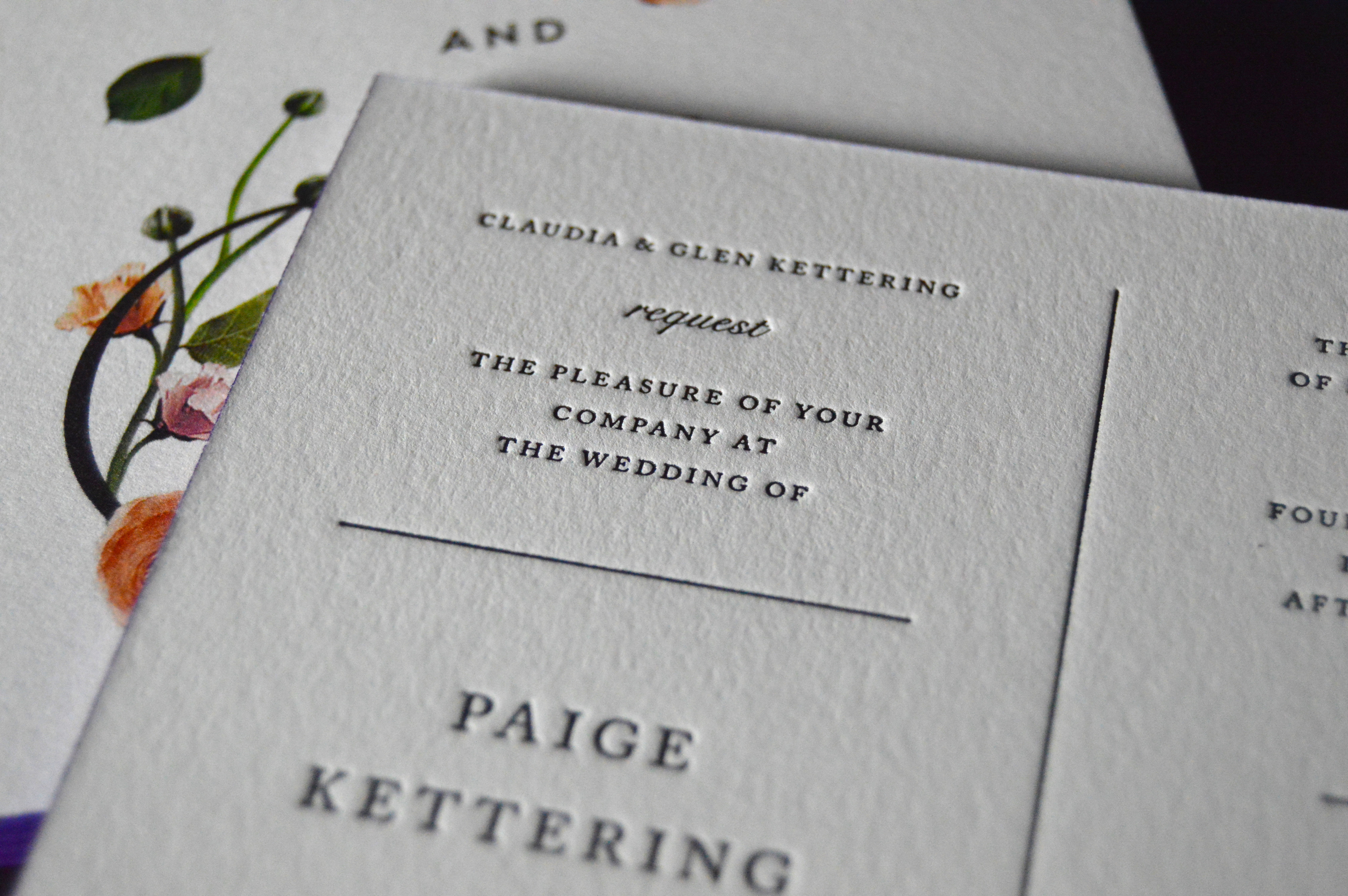 Letterpress printer business cards invitations cannelli printing cannelli reheart Gallery